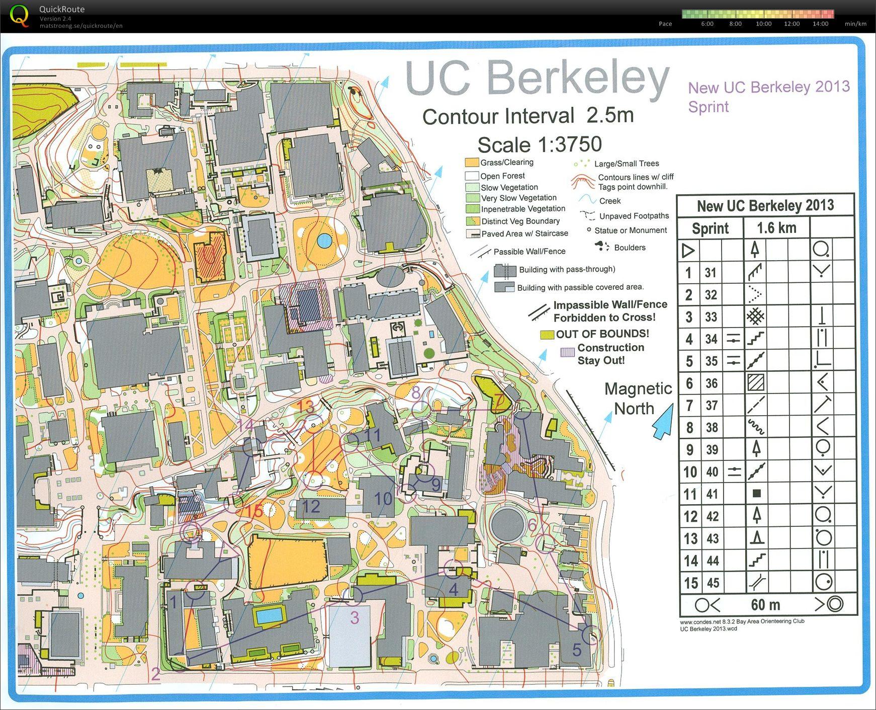 UC Berkeley Sprint - March 3rd 2013 - Orienteering Map from Charlie ...