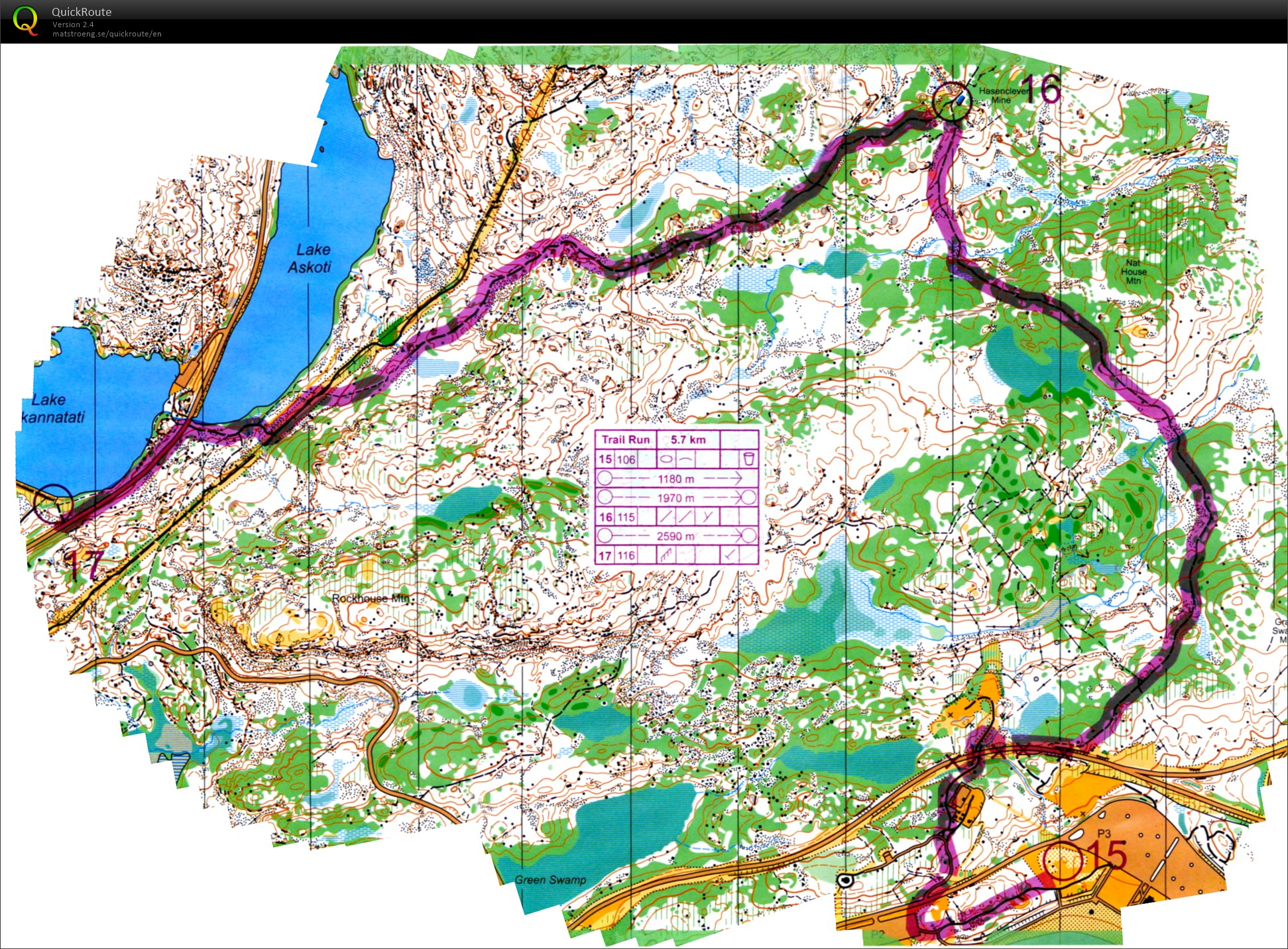 Picture of: Hudson Highlander 3 Trail Run October 1st 2017 Orienteering Map From Greg Ahlswede