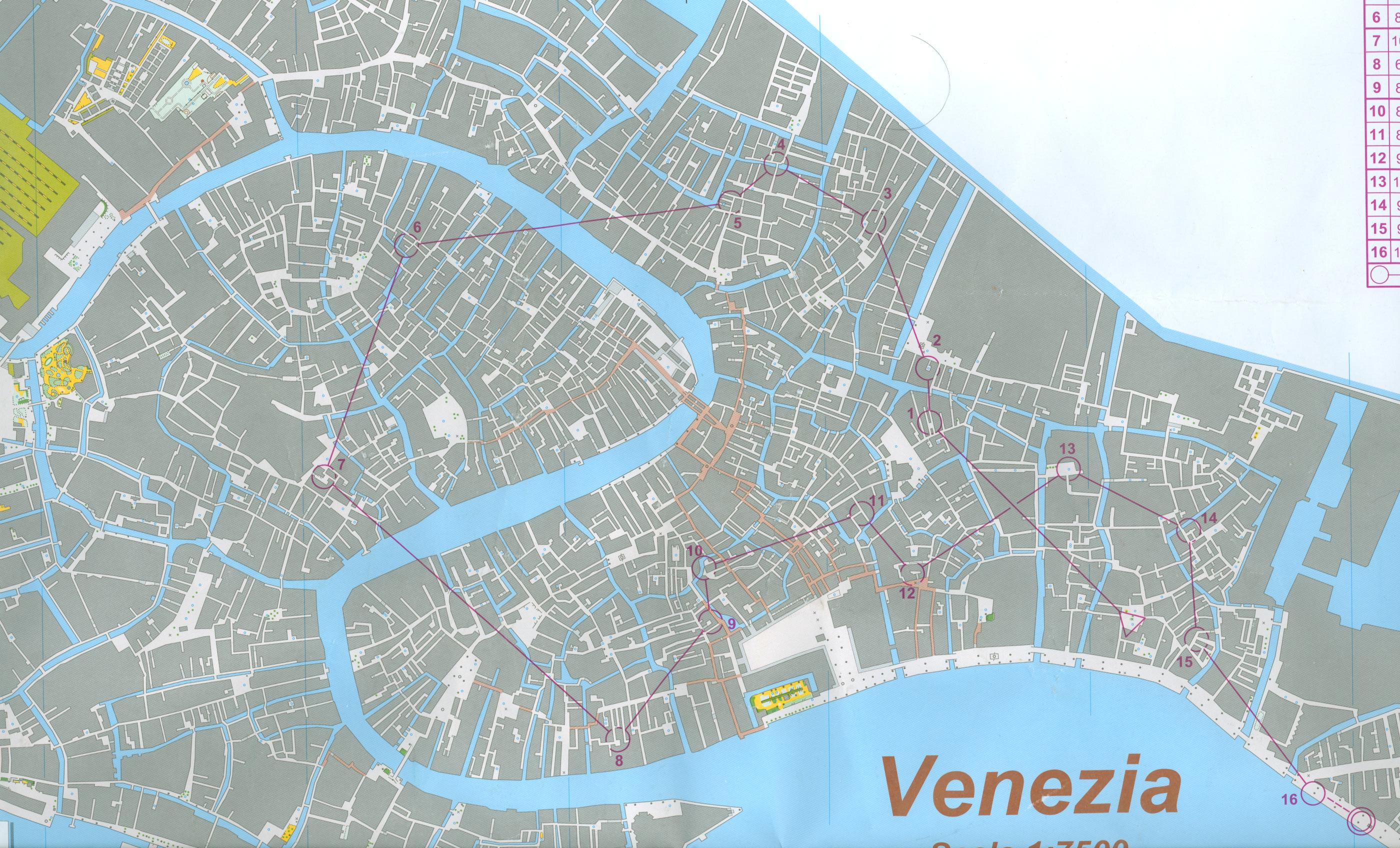 Venice Italy Street Map Printable